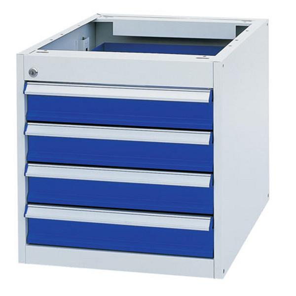 caisson 4 tiroirs pour poste de travail etablis bois. Black Bedroom Furniture Sets. Home Design Ideas