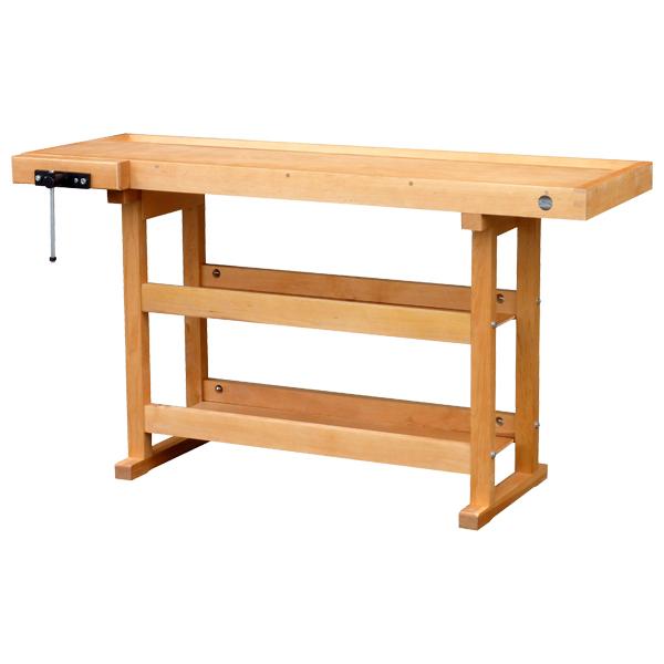 etabli bois avec 2 tag res etablis bois achatmat. Black Bedroom Furniture Sets. Home Design Ideas
