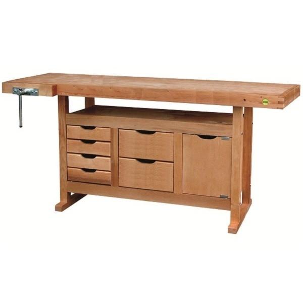 etabli bois avec 6 tiroirs et 1 caisson etablis bois. Black Bedroom Furniture Sets. Home Design Ideas