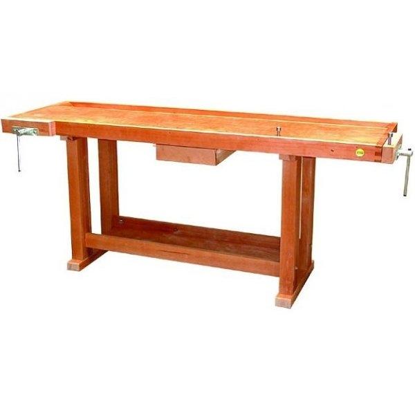grand tabli bois de menuisier avec tiroir et tag re 2 m etablis bois achatmat. Black Bedroom Furniture Sets. Home Design Ideas
