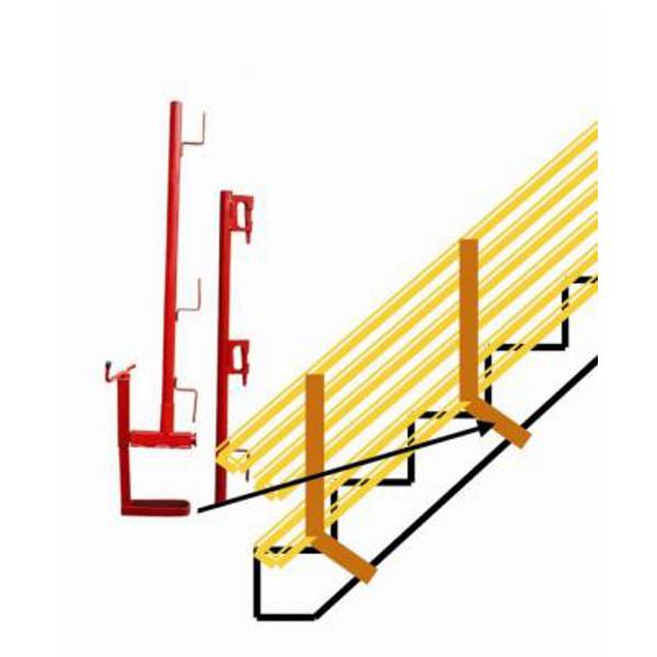 ensemble pince dalle pour escalier avec potelet planche ou bloqueur garde corps chantier. Black Bedroom Furniture Sets. Home Design Ideas