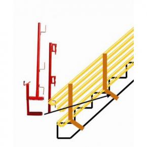 pince dalle escalier avec potelet pour garde corps provisoir de chantier achatmat. Black Bedroom Furniture Sets. Home Design Ideas