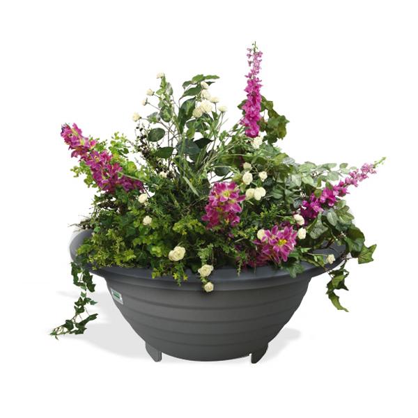 jardini re esf rica acier jardini res et bacs fleurs de ville achatmat. Black Bedroom Furniture Sets. Home Design Ideas