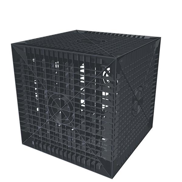 cagette pour la r tention l 39 infiltration et le drainage des eaux de pluie kit d 39 installations. Black Bedroom Furniture Sets. Home Design Ideas