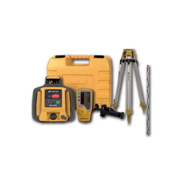 Laser rotatif horizontal avec mire et tr pied topcon rl for Niveau laser exterieur