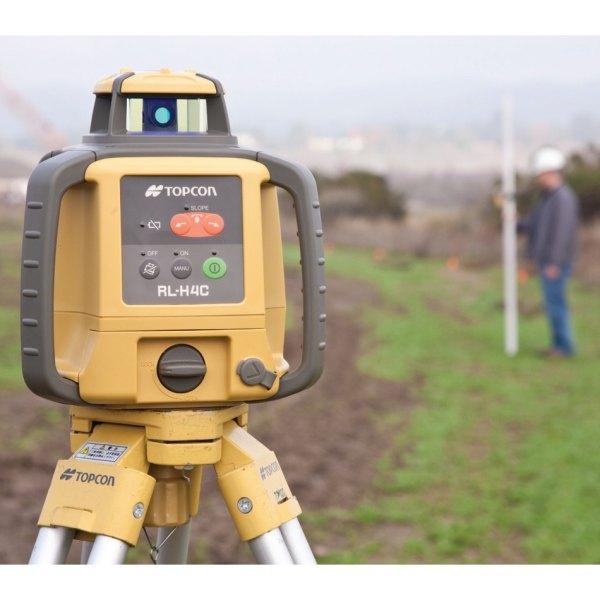 Laser rotatif horizontal avec mire et tr pied topcon rl for Location niveau laser exterieur