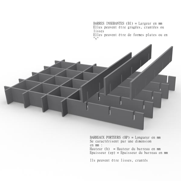 marches acier inox 304 d cap maille 33 x 33 antid rapant. Black Bedroom Furniture Sets. Home Design Ideas