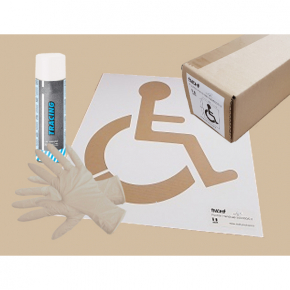 Pochoir de marquage kit handicap achatmat for Pochoir pour peinture