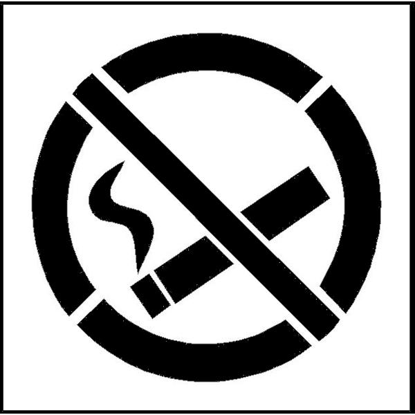 pochoir de marquage interdiction de fum achatmat. Black Bedroom Furniture Sets. Home Design Ideas