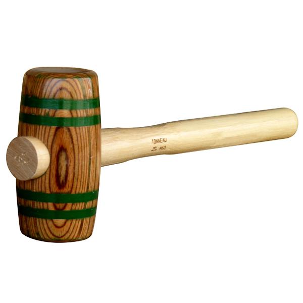 Maillet bois lamelle 60 mm marteau massette masse - Maillet en bois ...