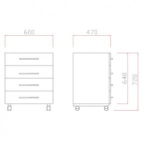 Meuble 4 tiroirs l60 cm meubles pour paillasses achatmat for Meuble a tiroir pour atelier