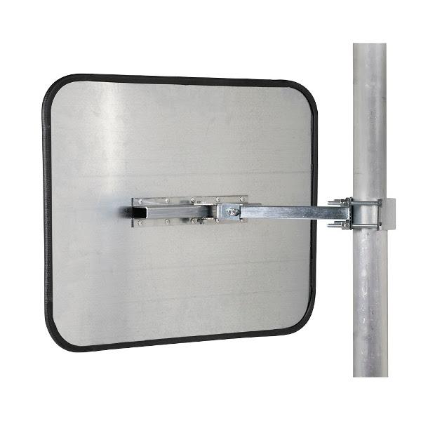Miroir avec r flecteurs en acier et inox poli miroir de for Acier poli miroir