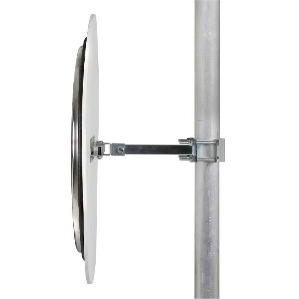 Miroir avec r flecteur acier et inox poli miroir for Miroir acier
