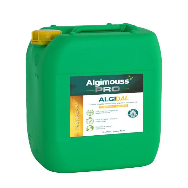 Algimouss algidal pour dallage ext rieur nettoyage et for Traitement travertin exterieur