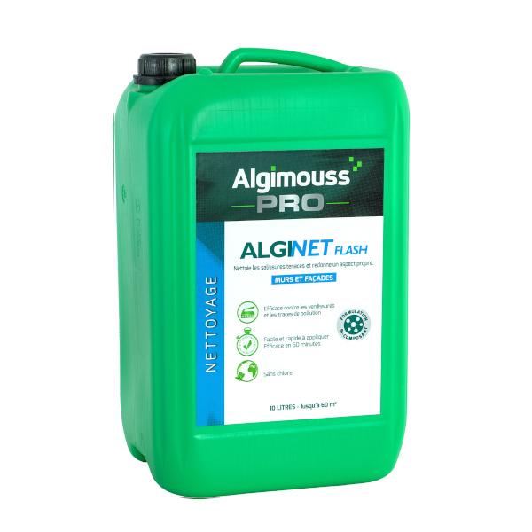 nettoyant d graissant fa ade professionnel alginet flash algimouss achatmat. Black Bedroom Furniture Sets. Home Design Ideas