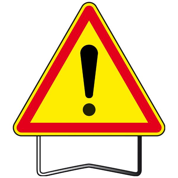 panneaux danger ak14 danger sur pieds t1 taille 1000 panneaux de danger temporaire achatmat. Black Bedroom Furniture Sets. Home Design Ideas