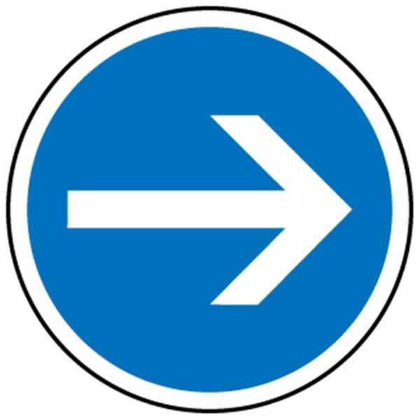 panneaux routier direction obligatoire droite b21 1 panneaux de signalisations fixes achatmat. Black Bedroom Furniture Sets. Home Design Ideas