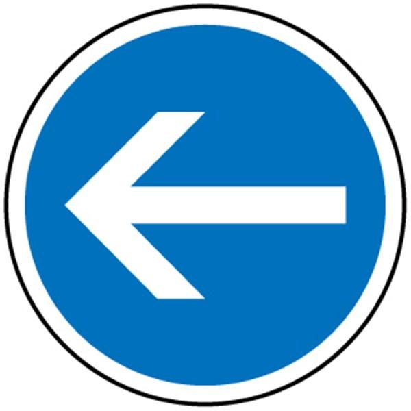 panneaux routier direction obligatoire gauche b21 2 panneaux de signalisations fixes achatmat. Black Bedroom Furniture Sets. Home Design Ideas