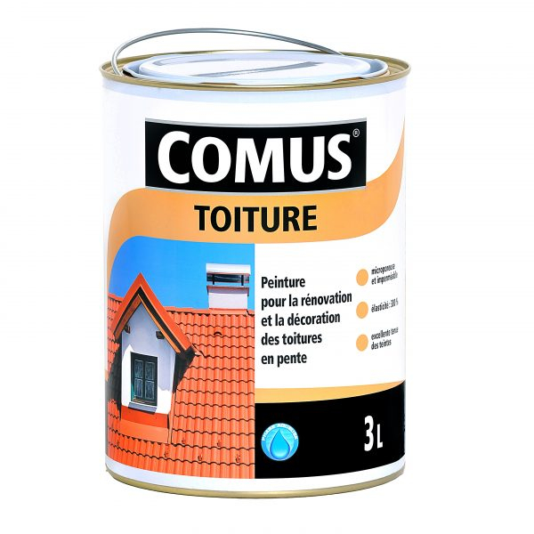 Peinture décorative imperméable pour la rénovation des toitures COMUS TOITURE   Peintures ...