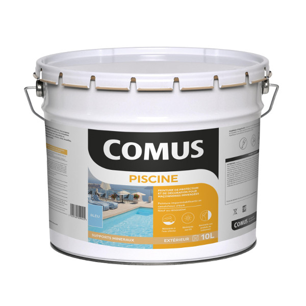 Peinture satin e au caoutchouc chlor comus piscine for Chlore piscine