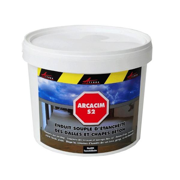 Tanch it souple des dalles et chapes b ton arcacim s2 - Produit pour dalle beton ...