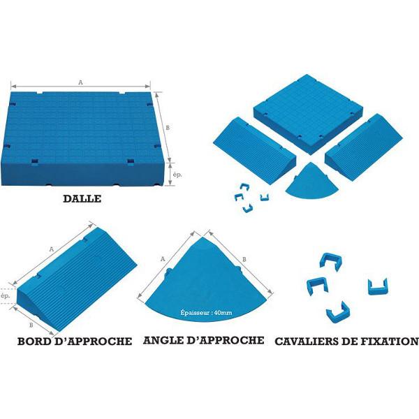 angles pour dalles d 39 aire de jeux ext rieure protection des enfants achatmat. Black Bedroom Furniture Sets. Home Design Ideas