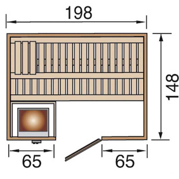 Saunas sauna bergen 1 exklusiv bios 4 5 kw avec poele for Sauna exterieur avec poele a bois