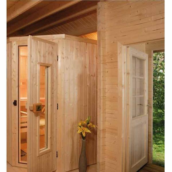 Sauna d 39 ext rieur pokka os po le 230 v 7 5 kw avec po le for Sauna exterieur avec poele a bois
