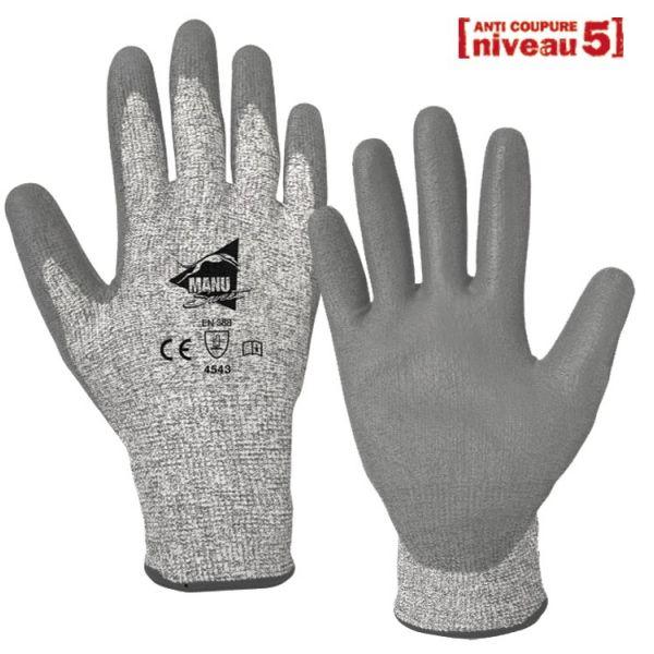 gants anti coupures support niveau 5 travaux de pr cision et manutention fine achatmat. Black Bedroom Furniture Sets. Home Design Ideas