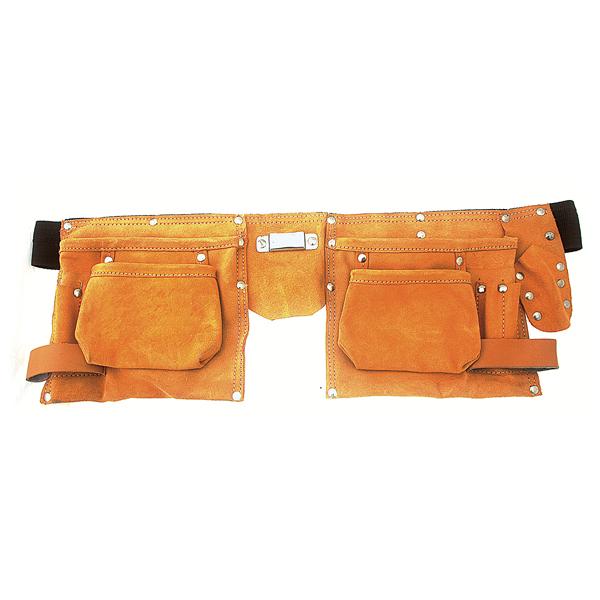 Ceinture cuir porte outil avec 10 poches + porte mesure   Trousse à ... 9a48fa90098