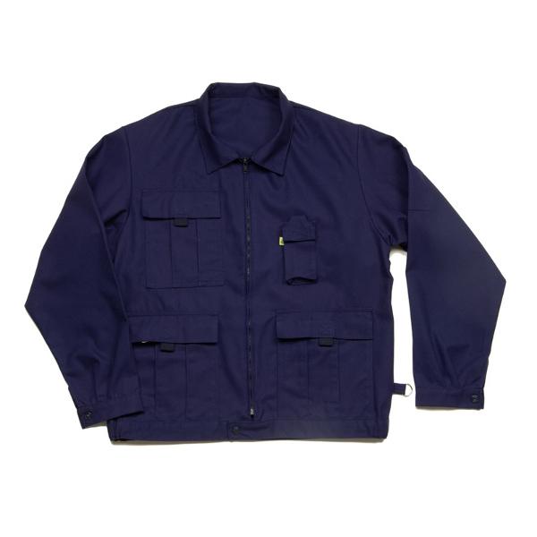 veste de travail bleu multipoches vestes gilets blousons achatmat. Black Bedroom Furniture Sets. Home Design Ideas